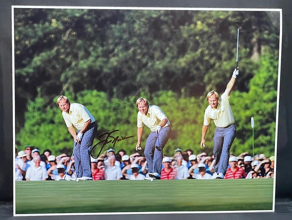 Jack Nicklaus Picture Autographed