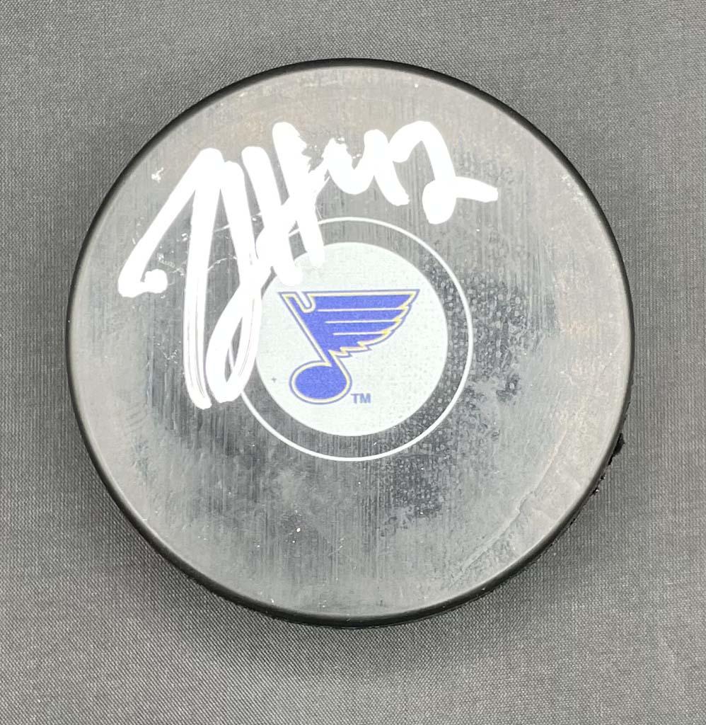 Michael Del Zotto Puck Autographed
