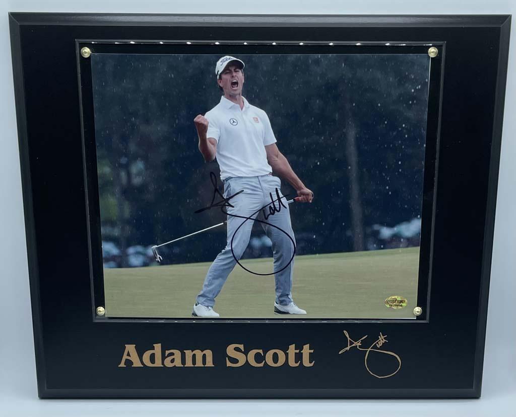 Adam Scott Plaque Display Autographed