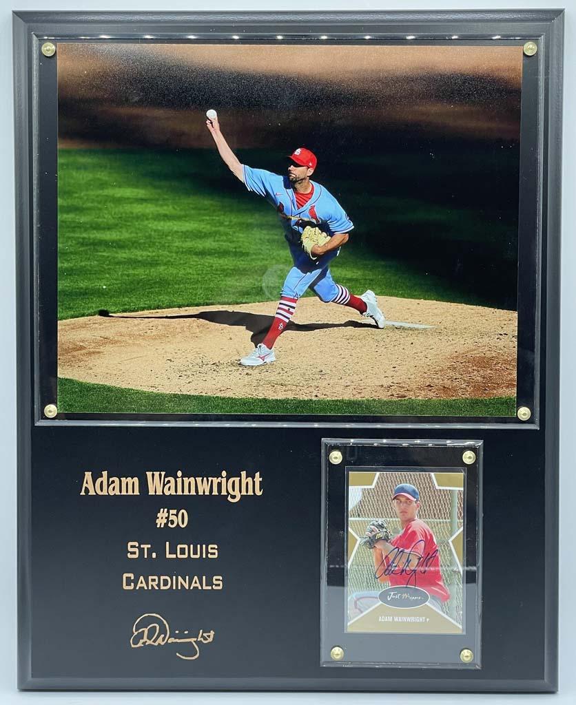 Adam Wainwright Plaque Display Autographed