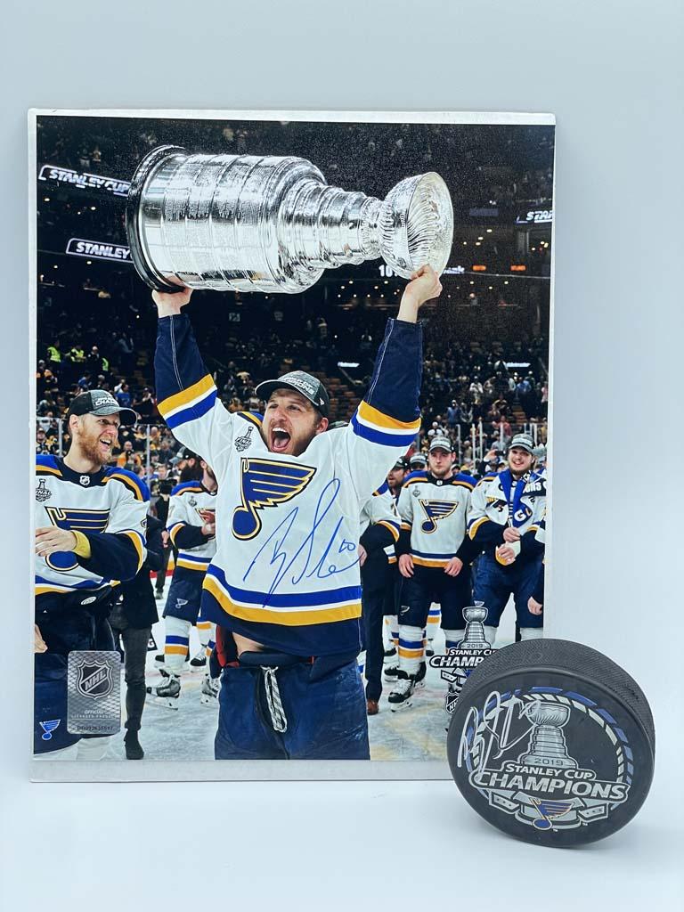 Brayden Schenn Stanley Cup Puck/Photo Autographed